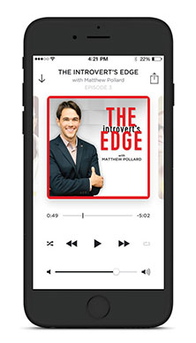 The Introvert's Edge podcast on iPhone screen