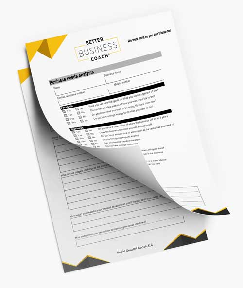 Better Business Coach Worksheets