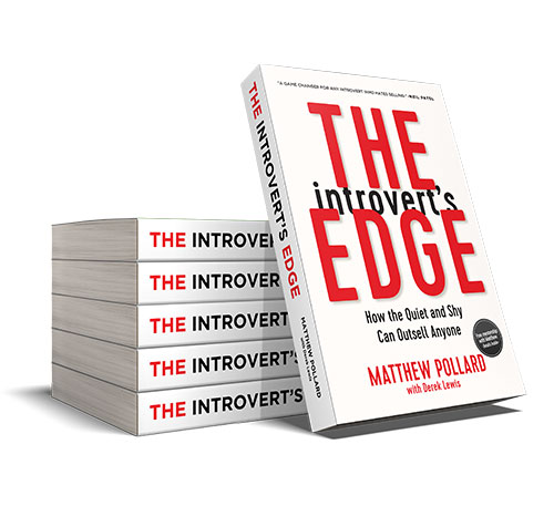 Stack of The Introvert's Edge books